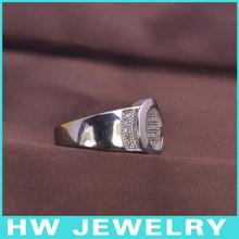 LMR3264 Men Ring turquoise white gold ring