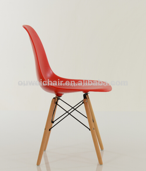 R plique chaise eames dsw rouge for Chaise eames rouge