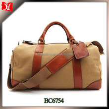 Fashion canvas travel bag custom wholesale canvas duffle bag weekend travel bag