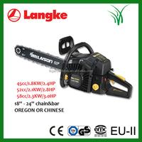 good quality black plastic chain saw cs5800, YD5800 chain saw, 58cc gasonline chainsaw