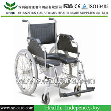 CARE-- FDA approve aluminum foldable toilet commode chair