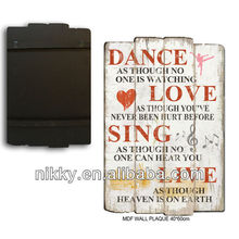 2012 best selling wood crafts ,decorative plaques with sayings