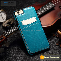 Brand new luxury leather material TPU case for iPhone 6S Plus soft case cover