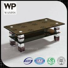 WP770-1# High Quality tempered glass coffee table