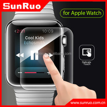 2015 new product 2.5D round edge for apple watch premium tempered glass screen protector
