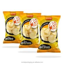 custom printed food grade material plastic bag aluminum f oil potato chip bags / crisp packaging bag