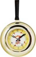 Plastic Frying Pan wall Kitchen Clock