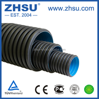 large diameter double wall corrugated drainage pipe