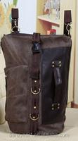 Fashion Men's Vintage Canvas backpack Rucksack laptop shoulder travel Camping bag