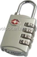 TSA Padlock Resettable Combination with Master Key for Customs TSA309