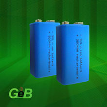 rechargeable 9v li-ion battery for Telecommunications, Audio and Video Devices, and Miner Lamps