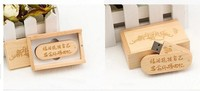 New Fashionable Wooden Style 16GB oval usb + wooden box Memory Stick USB Flash Drive Gift Free shipping & wholesale