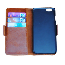 Brown PU Flip Leather Wallet Cases For iPhone6 4.7