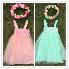 new design 2015 flower girl dress girls white dress chiffon girls dress
