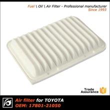 Alibaba China manufacturer car air filter cartridge for Toyota OEM 17801-21050