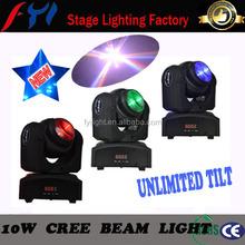 2015 hot selling new cheapest beam 10w unlimited tilt led moving beam light