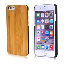 9 years no complaint Real wood for iphone 6 plus solid wooden cover with cutsom logo