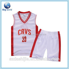 2015 wholesale bright color breathable basketball jersey