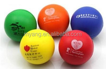 6.3cm 2.5 inch anti stress ball stress pu ball,promotion items for Pharmacy