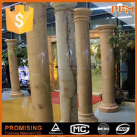 Royal hotel exterior decoration handmade stone decorative column cover