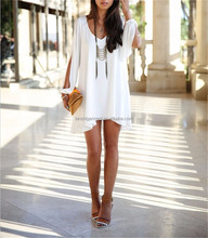 2015 Fashion Wholesale Sexy Women Summer Casual A-line Opening Sleeve Polyester Cocktail Party Above Knee Mini Dress OEM