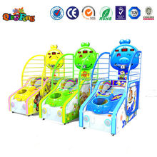 Qingfeng newest style arcade coin operated basketball games for kids