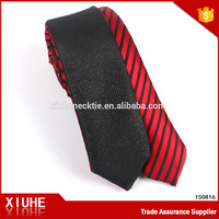Reversible red and black neck tie