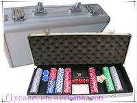 design carry aluminum poker set in aluminum case tool set with handle