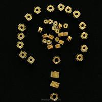 Small Module 0.4 brass motor gear