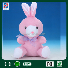 OEM lovely high quality stuffed doll rabbit plush toy