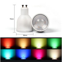 RGB wireless IOS &Android smart bulb wifi control vtac led red type six led bulb