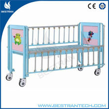 China BT-AB003 2-part Steel Hospital baby wooden bed pediatric hospital bed baby crib