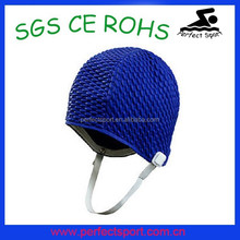 Bubble Crepe Swim Cap ;rubber swim cap