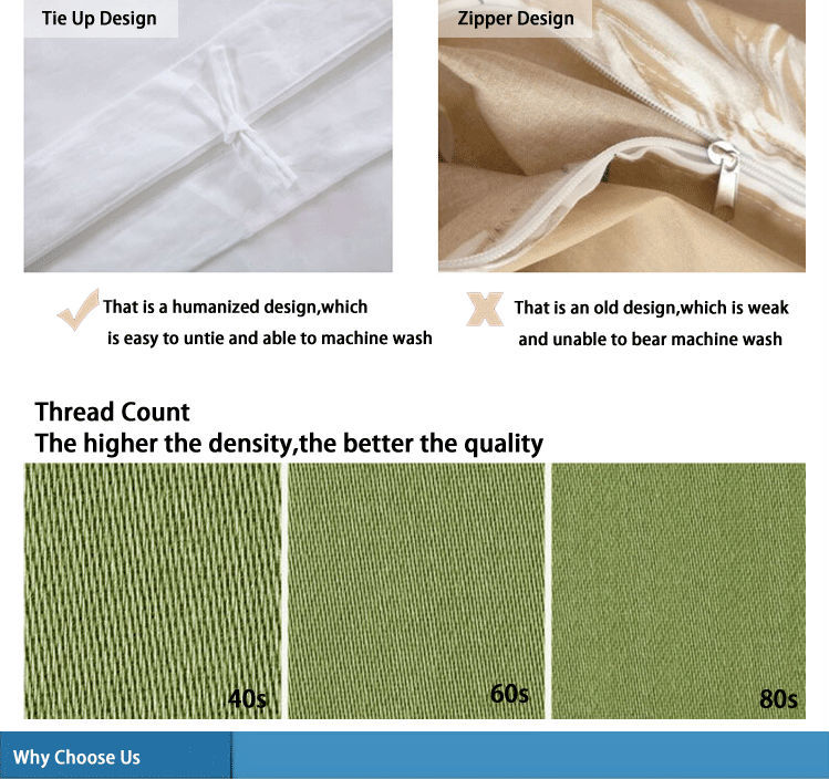 Embroidered wholesale high thread counts bedding set for High thread count bed sheets