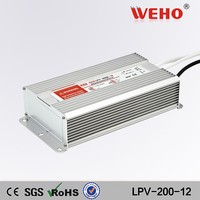 200w led driver LPV-200-12 ac dc waterproof transformer 12v to 220v