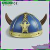 Blue Golden Devil Horn Viking Helmet Warrior Halloween helmet