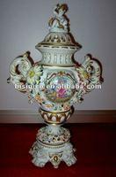 Home decoration European porcelain arts-White& colour Beauty antique ceramic Jar, MOQ:1PC(B15205)
