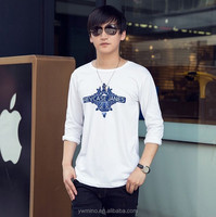 New Style Fashion Long Sleeve Men's Tshirt Cotton Casual Men T shirt PrinttingTops & Tee