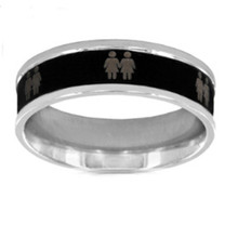 Yiwu Aceon Two-tone Stainless Steel Female Gay Equality Ring