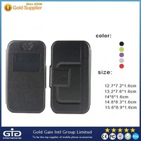 With Slider Cellphone Universal PU Leather Case 5 Sizes Universal Leather Flip Cover