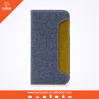 """Wholesale cheap 4.7"""" PU and canvas material cell phone case shell"""