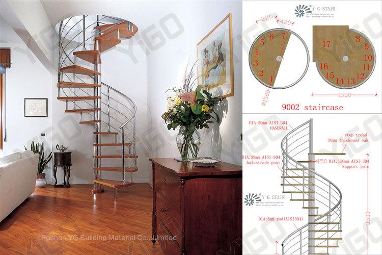 Escaleras de caracol de madera para interiores original - Precio escalera de caracol ...