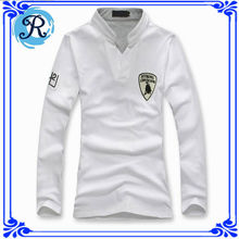 China fabricante hombres ropa muestras gratis shirt ciclo camisas de polo logo bordados personalizados