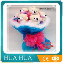 wholesale love plush toy teddy bear doll bouquet