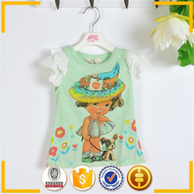 Top fashion girl t shirt , very low price t-shirts , low moq
