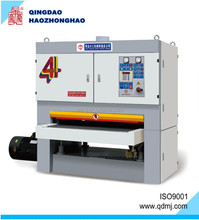 Calibrating wide belt sanding machine for wood