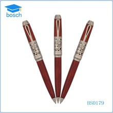 wedding favors pens,red wooden pen,2015 promotional ball pen