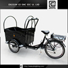 2015 hot sale three wheel danish electric cargo tricycle / trike / bike / bicycle for family
