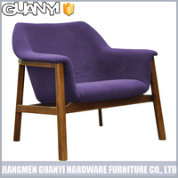 hot sell classic cashmere cover ash solid wood sofa