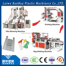 Easy operation plastic extrusion machinery shopping bag making machine line